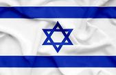 Bandera ondeando israel — Foto de Stock