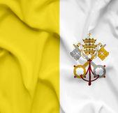 梵蒂冈城挥动国旗 — 图库照片