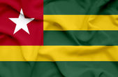 Togo waving flag — Stock Photo