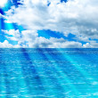 Sea and sun background — Stock Photo