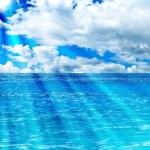 Море и солнце фон — Стоковое фото