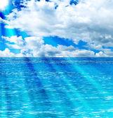 Sea and sun background — Stock Photo