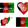 Set of various Afghanistan flags — Stock Photo #12191906