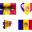 Set of various Andorra flags — Stock Photo #12191920