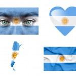 Set of various Angola flags — Stock Photo