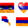 Set of various Armenia flags — Stock Photo #12191931