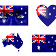 Set of various Australia flags — Stock Photo