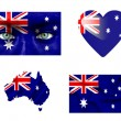Stock Photo: Set of various Australia flags