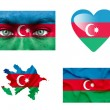 Royalty-Free Stock Photo: Set of various Azerbaijan flags