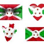 Set of various Burundi flags — Stock Photo #12192033