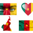 Set of various Cameroon flags — Stock Photo