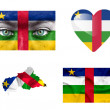 Stock Photo: Set of various Central AfricRepublic flags