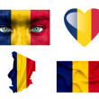 Set of various Chad flags — Stock Photo