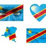 Set of various Democratic Republic of Congo flags — Stock Photo #12192093