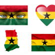 Stock Photo: Set of various Ghanflags