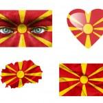 Set of various Macedonia flags — Stock Photo