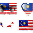 Stock Photo: Set of various Malaysiflags