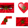 Set of various Morocco flags — Stock Photo #12192246
