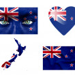 Set of various New Zealand flags — Stock Photo #12192259