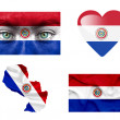Set of various Paraguay flags — Stock Photo