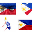 Stock Photo: Set of various Philippines flags