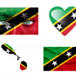 Stock Photo: Set of various Saint Kitts and Nevis flags