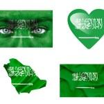 Set of various Saudi Arabia flags — Stock Photo #12192329
