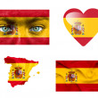 Royalty-Free Stock Photo: Set of various Spain flags
