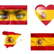 Set of various Spain flags — Stock Photo