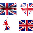 Set of various United Kingdom flags — Stock Photo #12192395