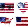 Set of various United States of America flags — ストック写真