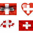 Royalty-Free Stock Photo: Set of various Switzerland flags