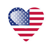 United States of America 3D heart shaped flag — Stock Photo