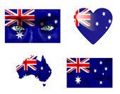 Reeks van verschillende vlaggen van australië — Stockfoto