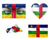 Set di varie bandiere repubblica centrafricana — Foto Stock