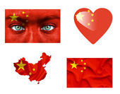 Set di vari flag cina — Foto Stock