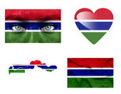 Set of various Gambia flags — Stock fotografie