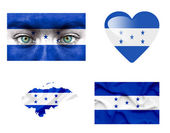 Set of various Honduras flags — Stock Photo