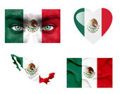 Set of various Mexico flags — Stock Photo
