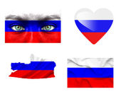 Set of various Russia flags — Stock Photo