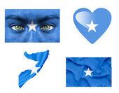 Reeks van verschillende somalië vlaggen — Stockfoto