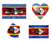 Set of various Swaziland flags — Stock Photo