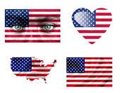 Set di varie bandiere di stati uniti d'america — Foto Stock