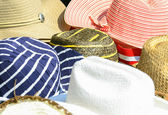 Colorful hats background — Stock Photo