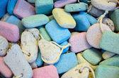Colorful scrub stones background — Stock Photo