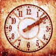 Grunge image of old anitique clock — Stock Photo