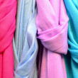 Colorful scarfs background - Stock Photo