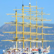Typical old five mast sailing ship — Stock Photo