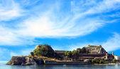 Kerkyra stad - hoofdstad van corfu isalnd griekenland — Stockfoto
