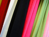 Colorful scarfs texture — Stock Photo